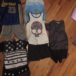 Boys size 7-8 summer shorts sets